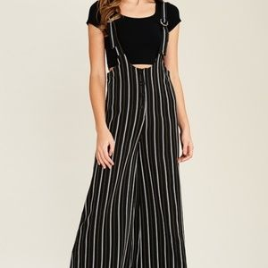 Wide leg with striped Pant Jumpsuit